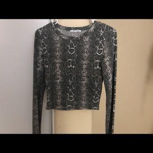 Zara snake print top
